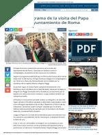 Papa Francisco Visitará El Campidoglio Ayuntamiento de Roma El 26 de Marzo
