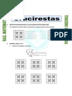 Ficha Crucirestas Para CUARTO de Primaria