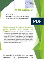 TÍTULOS DE CRÉDITO - SESIÓN  3-1.pptx
