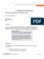 102.3 - Manage Shared Libraries
