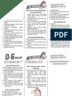 Leaflet Pentingnya ASI Eksklusif Dan Cara Penyimpanan ASI