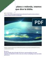 Tierra Plana Biblia