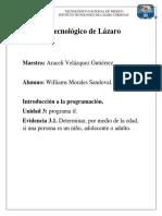 Evidencia 3.1, Programa If