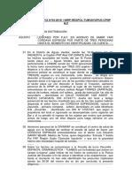 Nota Informativa Nºlesiones Por p.a.f. en Agravio de Samir Yair Cordava Espinoza Por Parte de Tres Personas Hasta El Momento No Identificadas 2018 (2)