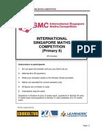 2018 Primary 6 Questions (ISMC Exemplar)