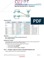 4.1.1.11 Packet Tracer Configuring Extended ACLs Scenario 2