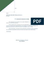 Carta Solicitud Certificado de Trabajo