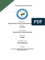 Tarea 1 de Educacion Para La Paz y Formacion Ciudadana