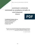Estado Nutricional y Orientacion Nutricional en Estudiantes de Ballet. II