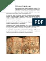 Historia Del Lenguaje Maya