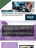 Diego Ricol- FEDERICA ARÉVALO,UNA VENEZOLANA QUE  DEJÓ SUS HUELLAS EN LOS OSCARS 2019