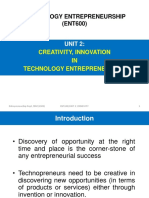 creativity innovation in technology entrepreneurship