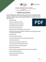 Mendoza Declaration