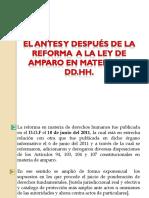Antes y Despues Reforma a La Ley de Amparo en Materia de DD.HH