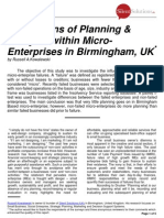 Silent Solutions UK - Birmingham Enterprise Study - Oct 2010