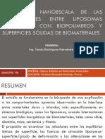 ESTUDIO A NANOESCALA DE LAS INTERACCIONES ENTRE LIPOSOMAS.pptx