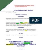 01 REGLAMENTO PARA LA PROTECCIÓN Y DETERMINACIÓN DEL ESTATUTO DE - ACUERDO GUBERNATIVO 383-2001.docx