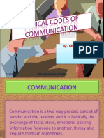 Ethical Codes of Communication