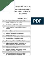 Indices de Monografias