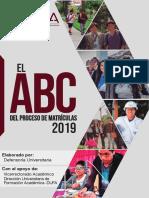 El ABC de Las Matrículas UNSA 2019