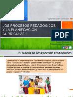 Los Procesos Pedagogicos y La Planificacion Curricular