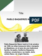 Pablo Baquerizo Nazur
