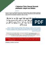 Doa dan Dzikir Sebelum Tidur Sesuai Sunnah.pdf
