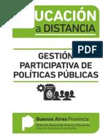 EDUCACIÓN A DISTANCIA - Gestión Participativa de Políticas Públicas