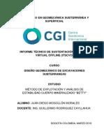 DISEÑO GEOMECÁNICO DE EXCAVACIONES SUBTERRANEAS. METODO NICHOLAS