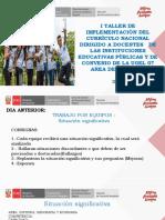 Taller de implementación del currículo nacional
