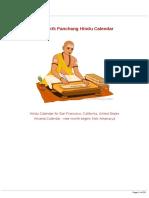 Espi Hindu Calendar 2019