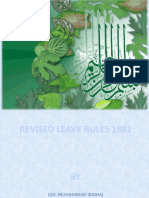 Revised Leave Rules1981