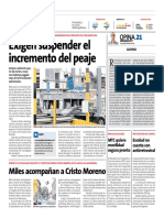 Incremento Peaje - Peru21
