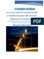 Resumen Ejecutivo Plan de Acciones Para Recuperación y Modernización Sector Eléctrico en Venezuela