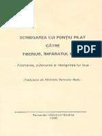 Scrisoarea lui Pontiu Pilat catre Tiberius, Imparatul Romei - 1996