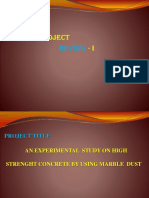 project report on marble dust