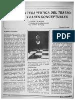 LA FUNCION TERAPEUTICA DEL TEATRO; HISTORIA Y BASES CONCEPTUALES ExtensionNo27Pag62-67.pdf