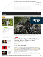 Alliance, Partnerships, And The Philippines' National Security Strategy