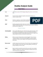 Film Studies Analysis Guide