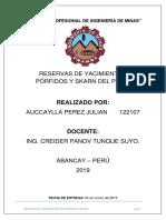 TRABAJO N° 3 - RESERVAS DE LOS PROYECTOS MINEROS EN PERU