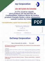 Dutemp Carbon a Liquidos CTL Caso Tunja Colombia Sept 2012