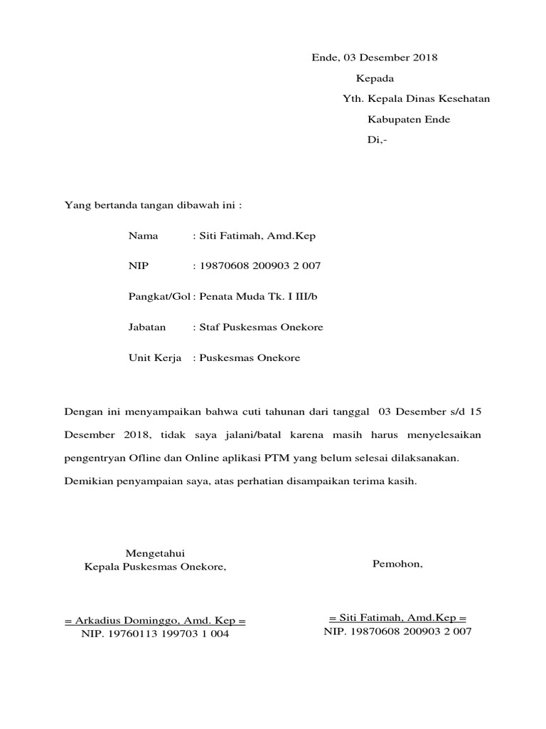 Surat Pembatalan Cuti Docx