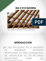Norma E.010 - Diseño en Madera