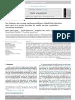 Floc Behavior and Removal Mechanisms of Cross-linked Durio Zibethinus