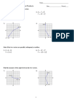 Vector Dot Product WS