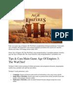 Pada Versi Game Age of Empires III