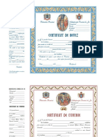 Certificate Botez Si Cununie Model