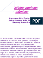 Los Distintos Modelos Atómicos