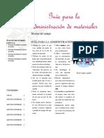 Guía Para La Administración de Materiales