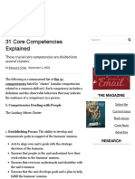 31 Core Competencies Explained - Workforce